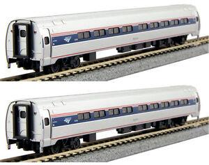 Kato-N-Scale-106-8002-Amtrak-Amfleet-I-Phase-VI-Coach-Coach-Two-Car-Set-A-New