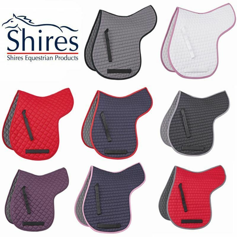 Shires Equestrian Riding GP Showing Saddle Clot Numnah Pad Pony Cob Full