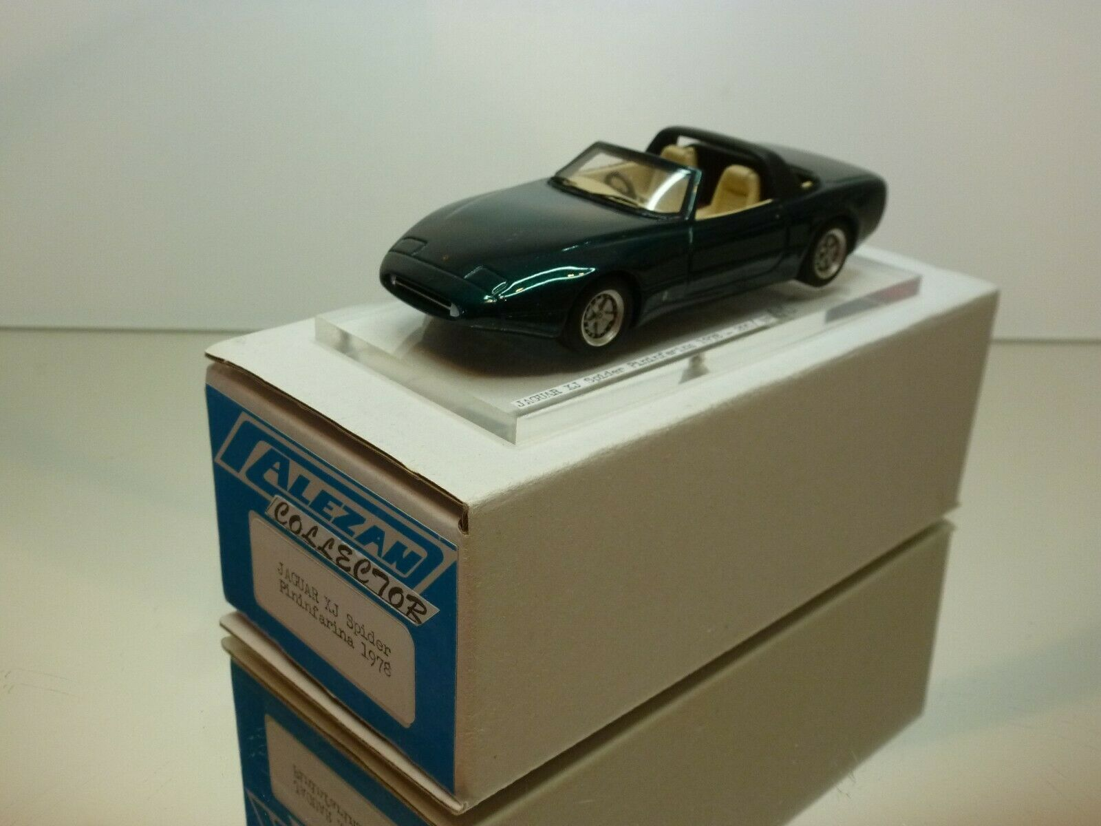 ALEZAN JAGUAR XJ SPIDER PININFARINA 1978 - verde METALLIC 1 43 -EXCELLENT IN BOX