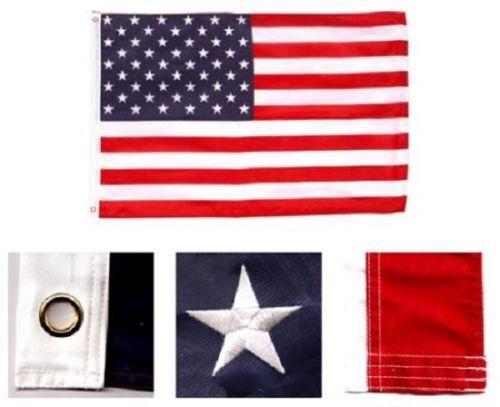 2.4x3.7m Bestickt Genäht U. S. USA Amerikanischer 50 Star Nylon Flagge 2.4mx12'