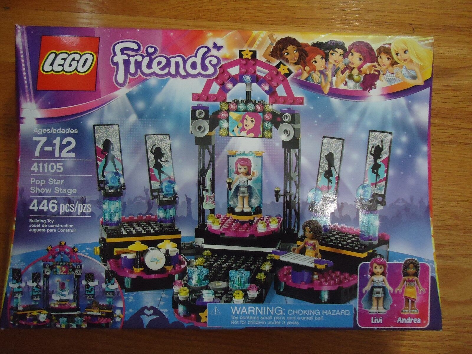LEGO FRIENDS POP STAR SHOW STAGE AGES 7-12 BRAND NEW SEALED 41105