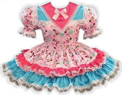 "/""Minnie/"" CUSTOM FIT Lacy Satin Adult Little Girl Baby Sissy Dress LEANNE"
