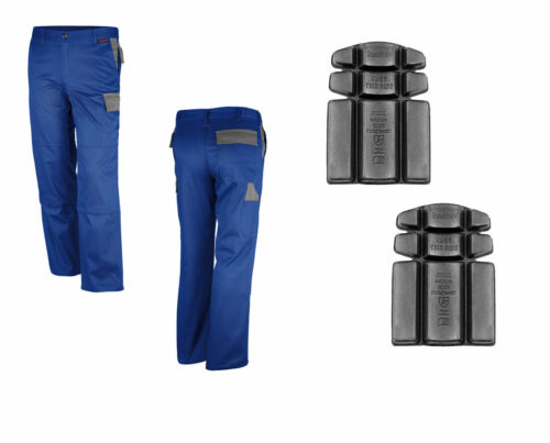 Bundhose inkl Kniepolster Montagehose 42-64 Arbeitshose Arbeitsbundhose blau