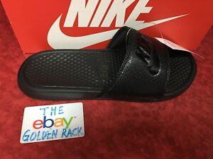 4e4678a9c0b2 Nike Benassi JDI Men s Slide Black Black Slipper 343880 001 Free ...