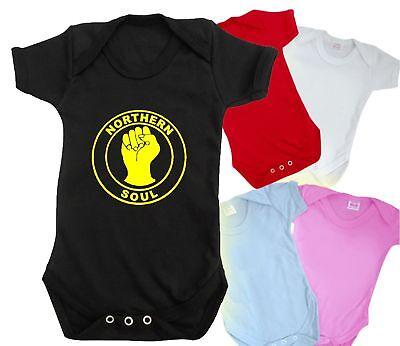 Northern Soul Baby Grow Bodysuit Divertente Carina T Shirt Bnwt Romper-mostra Il Titolo Originale