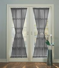 "No. 918 Emily Sheer Voile Patio Door Curtain Panel, 59"" x 72"", Charcoal Gray"