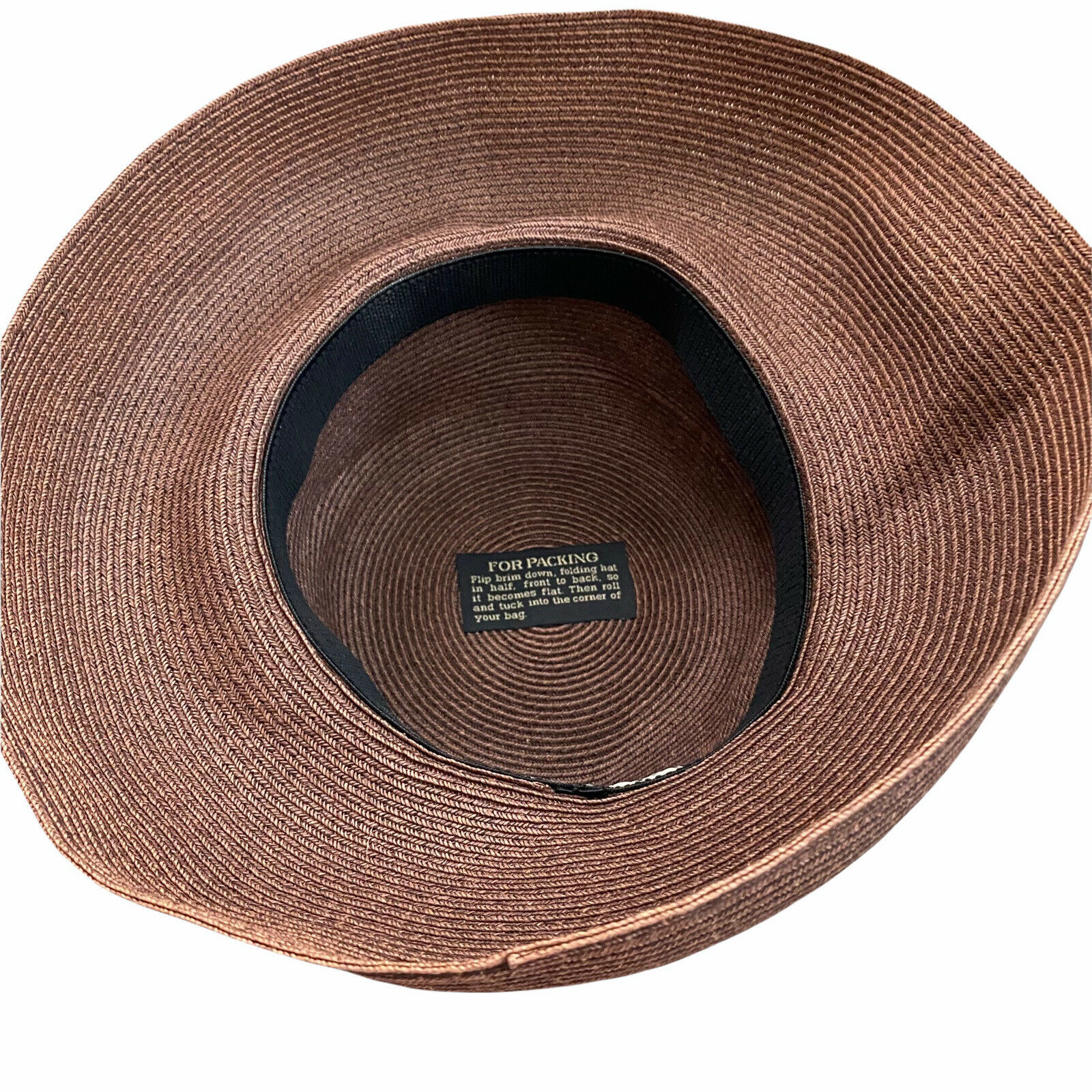 Eric Javits Squishee Packable Straw Hat Wide Brim… - image 7