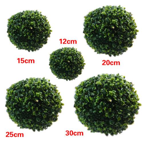 1X 12//20//25//30//40CM Artificial Plant Hanging Plastic Green Grass Ball Home Decor