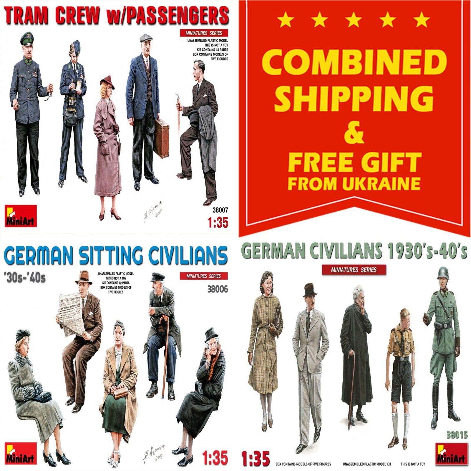Figures French Civilians 1930-40S Kit MINIART 1:35 MA38037