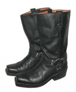 """"""" BUFFALO """" Western- Stiefel / Lederstiefel / Biker- Boots schwarz ca. 41,5 - 42"""