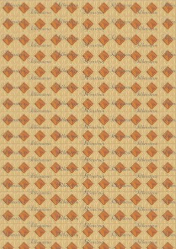 * suelo 045 * puppenstubentapete-papel pintado para casa de muñecas
