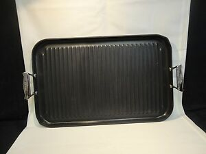 Grill Pan Non Stick All Clad Anodized Flat Nonstick Grille