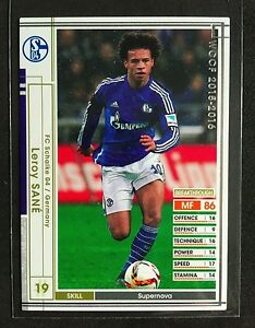 purchase cheap 79586 92ad0 Details about 2015-16 Panini WCCF Leroy Sane Schalke rookie card update  Manchester City