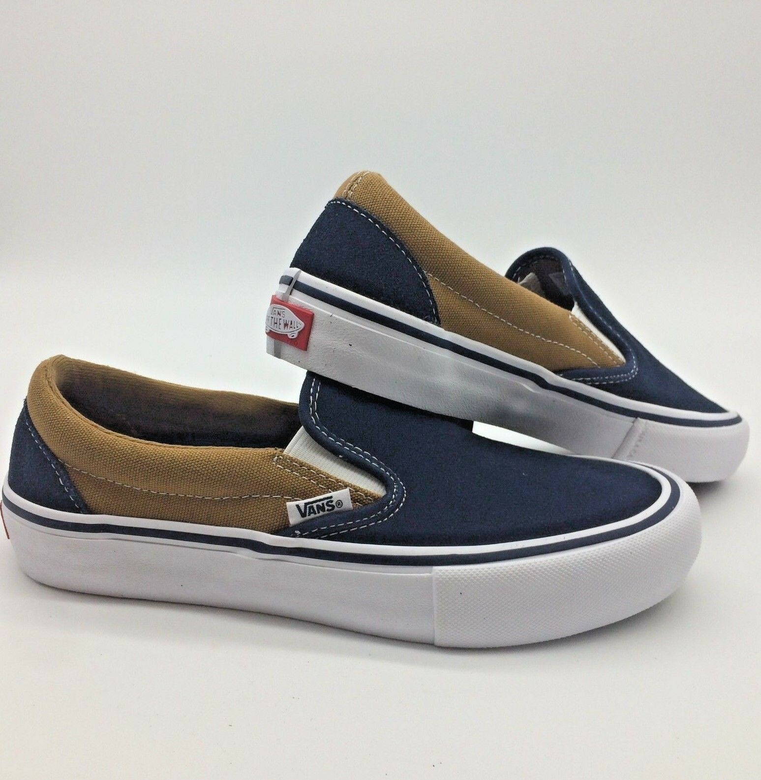 Vans Men Women's shoes Slip on Pro Dress''-- Dress bluees Medal Bronze