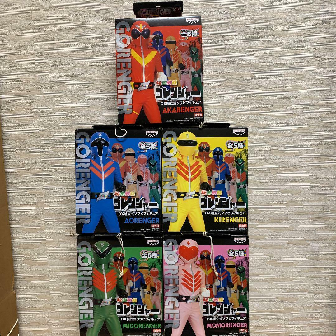 Used power rangers goRangers DX prefabricated Soft Vinyl Figure 5 body set orihi