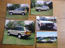 RANGE ROVER POLICE PUBLICITY PHOTOS x 5 Brochure connected  jm