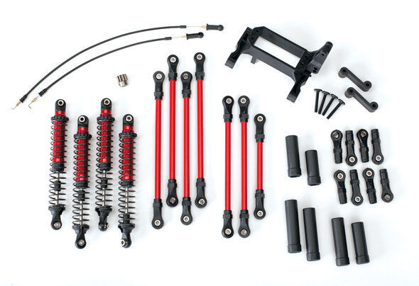 New Traxxas 8140R TRX-4 Complete Long Arm Lift Kit Travel Suspension rosso