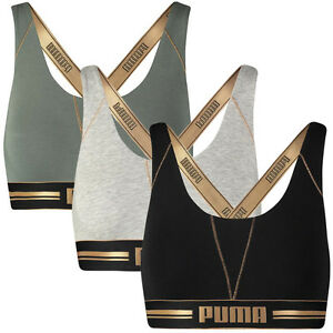 bb8c8d7f7b PUMA Women s Cross Back Comfort Control Bra Gym Top - Available in 3 ...