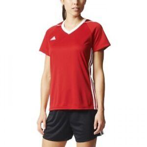 Imaginación vídeo R  Adidas Women's Soccer Tee Tiro 17 Jersey Climacool Football Red S99147  Small 03 190303224477 | eBay