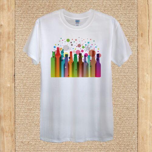 Party Drinking Bottles Cocktail Fun T-shirt Design quality Cotton unisex women