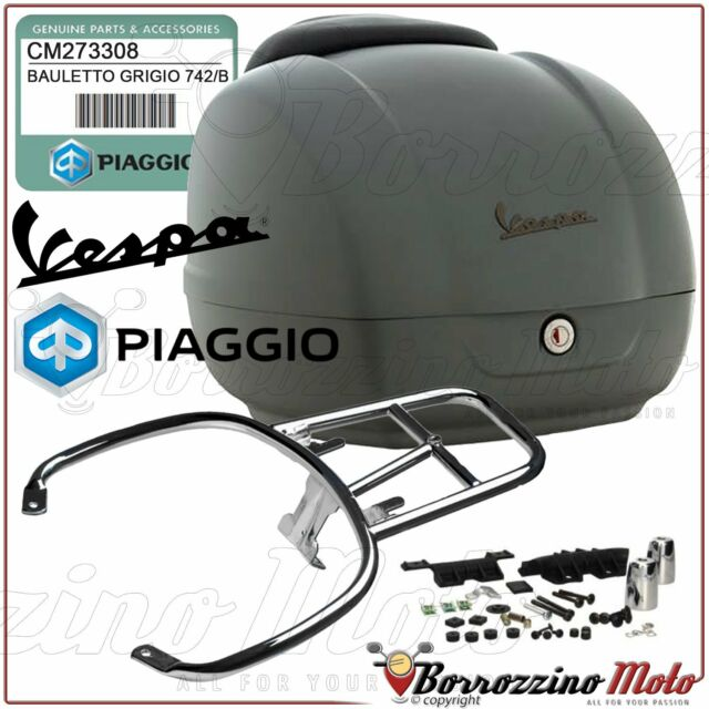 KIT TOP-CASE GRIS MATT 742/B ORIGINAL PIAGGIO VESPA GTS 4T IE SUPER 125 2012