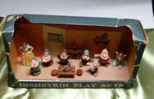 1960s-Marx-Disneykin-Play-Set-Complete-Snow-White-And-Seven-Dwarfs