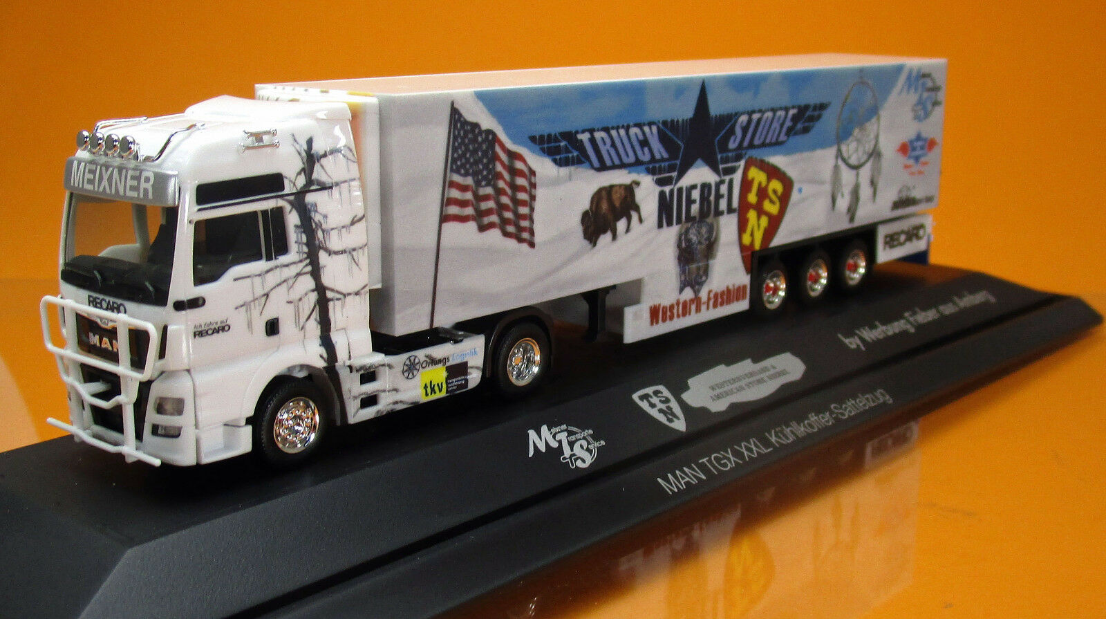 Herpa 121781 MAN TGX XXL Kühlkoffer camion truck Store Store Store Niebel Transporteur MEIXNER | De Haute Sécurité  246dc0