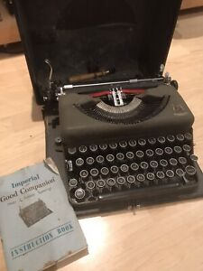 Vintage-Imperial-Model-T-Good-Companion-Typewriter-1950s-Late-King-George
