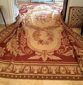 Image Is Loading French Aubusson Needlepoint Rug
