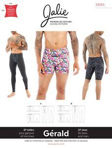 e77dfa933000 Jalie 3885 Gerald Men's & Boys' Underwear, Swim Trunks & Leggings ...