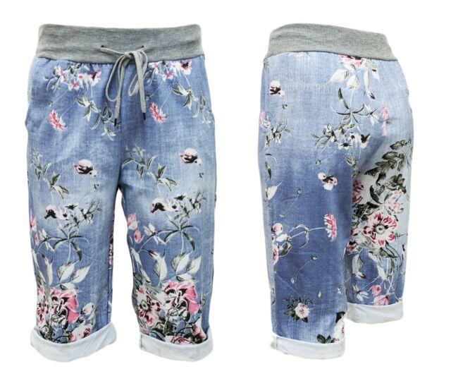 SWEATSHORTS Damen kurze Jogpants mit Gummizug Damen Shorts viele Designs  36-44