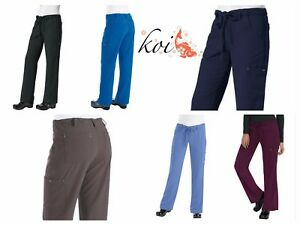 75f9b5ecdbf Details about New koi 715 Alicia Pant Sapphire Four-Way Stretch Scrubs  Cargo Pant Petite only!