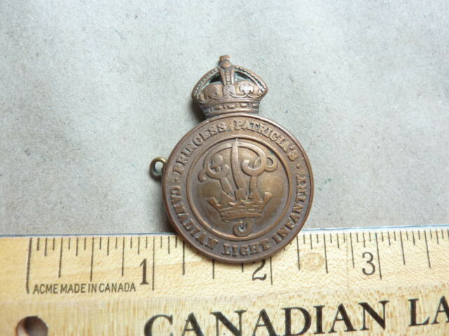 WWII PPCLI Cap Badge