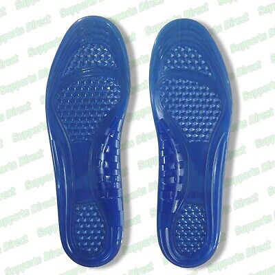 Massaging Silicon Gel Insoles Arch Support Plantar Fasciitis Sports Running Shoe
