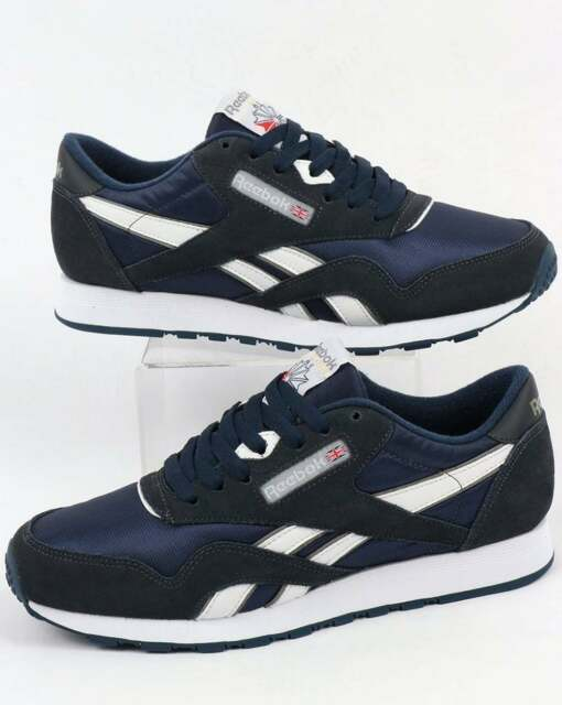 13b1a28efd48 Reebok Shoes Trainers CL Nylon 39749 Blue Navy Men s Sports Shoes Various Sizes  11 for sale online