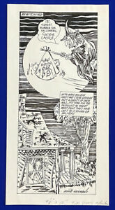 1990-Patriots-Tommy-Hodson-034-Bewitching-034-11x22-Original-Cartoon-Art-by-Germano