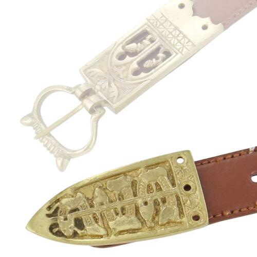 Medieval Serpent of the Seas Brass Viking Belt Buckle Chape