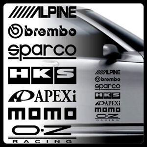 Image is loading 1pcs-HKS-Brembo-Apexi-alpine-momo-Car-Side-  sc 1 st  eBay & 1pcs HKS Brembo Apexi alpine momo Car Side Door Sticker Decal ...