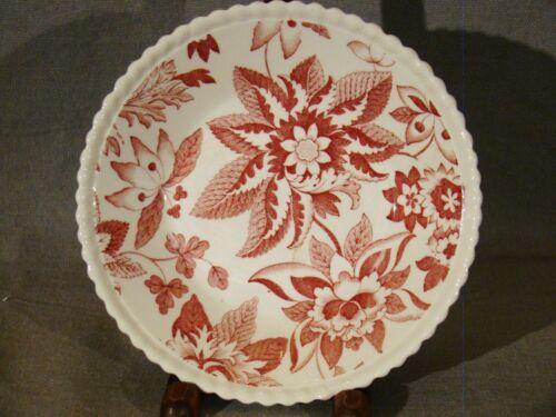 "Antique Copeland Spode Red Transfer Flowers Pattern Fruit Bowls 5 1//2/"" 1925-1926"