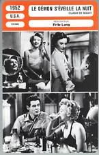 LE DEMON S'EVEILLE LA NUIT - Stanwyck,Ryan (Fiche Cinéma) 1952 - Clash by Night