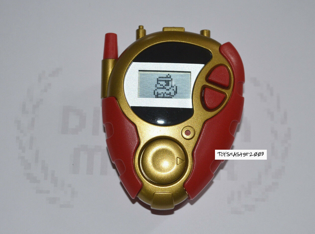 DIGIMON DIGIVICE 02 RED goldEN Colour D-3 US VER 1 RARE ONLY ONE CLEAN BODY TOY