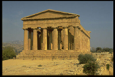 Art 525040 Temple Of Condord Agrigento Sicily Italy A4 Photo Print Elegant And Graceful