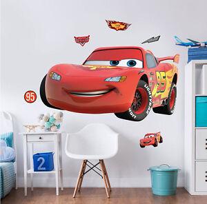 Wandsticker Kinderzimmer Disney Pixar Cars Lightning Mcqueen Auto Wandtattoo Ebay