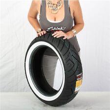 180/65-16 6 Ply Shinko 777 Heavy Duty White Wall Rear Tire