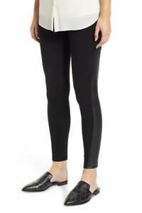 Lyss/é Womens Quilted Panel Denim Legging