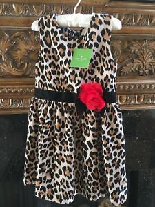 Kate-Spade-Toddler-Leopard-Dress-Size-4Y-Retail-88-00-US