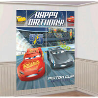Cars 3 Wall Poster Decorating Kit (5pc) Birthday Party Supplies Hanging Decor