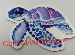 Sea Turtle Sticker ~ Water Bottle ~ Laptop ~ Tumbler ~ Purple Blue Vinyl Decal