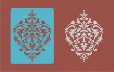 "Damask Wall 2 Stencils kit LARGE 11""x8.5"" Faux Mural Pattern Paint Stencil #AAA1"