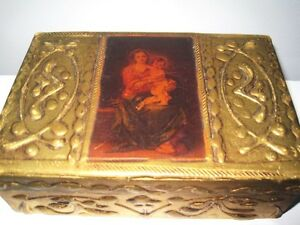 Qualified Antique Italian Trinket Box Paper Mache Made In Italy Other Antique Decorative Arts